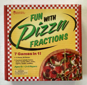 NEW Sealed Pizza Fun w/ Fractions Game, 11 Fraction Pizzas & 59 Pieces, ages 6+