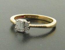 Emerald Solitaire Yellow Gold 18 Carat Fine Diamond Rings