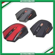 ✅MOUSE GAMING WIRELESS SENZA FILI 1200 DPI 6 TASTI OTTICO GIOCO LAPTOP PC SMA4✅
