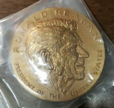 Ronald Reagan Bronze  United States Mint Medal Coin In Plastic W/ Stand