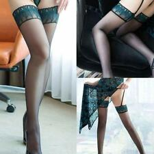 Womens Lace Top Stay Up Thigh-Highs Stockings Nylons Hosiery Pantyhose # Pop