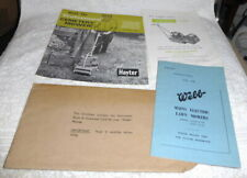 Rare vintage job lot of lawn mower brochures from the 1960's, Webb,Hayter,Greens