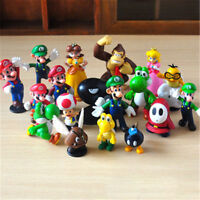18 Pcs Mini Super Mario Figure Cute Toys doll Action figures Collection Gift