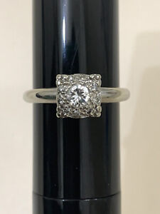 ART DECO Engagement Ring In 14 K W/ Gold