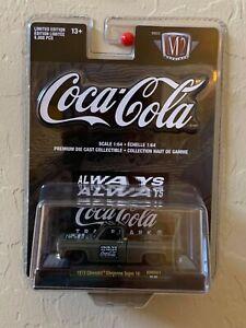 M2 Machines Coke Coca Cola 52500-NMD01 1973 Chevrolet Cheyenne Super 10 Black