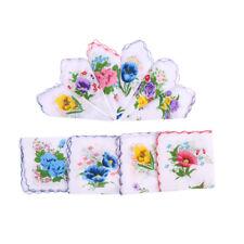 10pcs cotone donne carino fazzoletto quadrato fiore Hanky regalo della