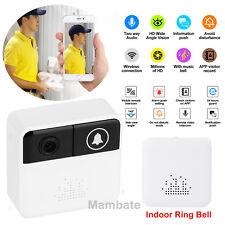 Wireless WiFi DoorBell Smart Video Phone DoorRing Visual  Intercom Secure Camera