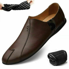 Men Casual Leather Shoes Loafers Moccasins Breathable Slip on Driving Plus Size