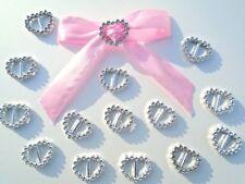 10pcs boucles passe ruban strass  noeuds décoration mariage baptême,scrapbooking