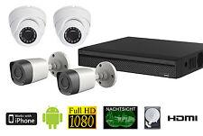 Full HD Set 4x 1080p Telecamere per esterni 2 TB Disco rigido 30m