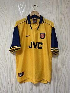 ARSENAL 1996 1997 AWAY FOOTBALL SHIRT SOCCER JERSEY NIKE VINTAGE sz XXL