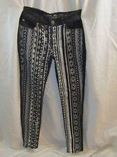WAX Brand Jeans Womans Black Geometric Pattern Pants - Size 5 EUC