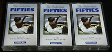 """Time-Life """" The Fabulous Fifties"""" 9-cassette 3- volumes Music Collection Rare"""