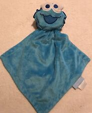 Cookie Monster Sesame Street Rattle Security Lovey By Nannette