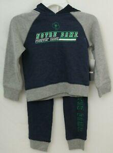 NEW Notre Dame Fighting Irish Colosseum Hoodie Pants Matching Set Infant 6-12 M