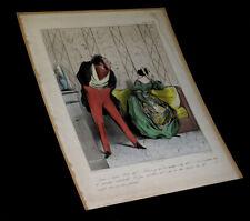 [CARICATURE ROBERT MACAIRE] DAUMIER (Honoré) - Lithographie originale.