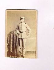 OLD MILITARY CDV PHOTOGRAPH YOUNG SOLDIER IN UNIFORM 1870S  (936)
