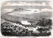 Battaglia di Milazzo il 20 Luglio. Grande veduta con isole Eolie e Scilla. 1860