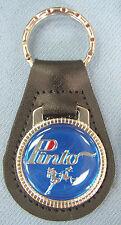 Vintage Blue Ford PINTO Black Leather Keyring Key Fob 1971 1972 1973 1974 1975
