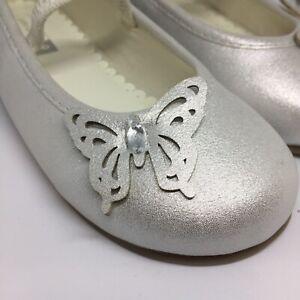 John Lewis Children's Butterfly Ballet Pumps, Ivory, Size UK 4 Infant