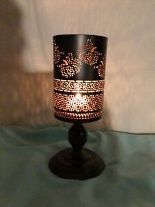Lifetime Brands Black/Gold Mesh Inside Or  Outdoor Patio Candle Holder Lg  India