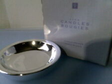 Rhtf 2001 Avon Candles Bougies Candle Holder Shiny Silvertone-Nib-Free Shipping