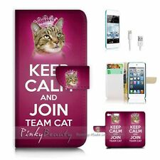 ( For iPod 6 / itouch 6 ) Flip Case Cover! P1632 Keep Calm Cat