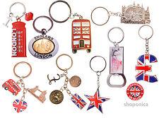 Best Mix of British London Icons  Mix of 9 Key Rings -UK Souvenir