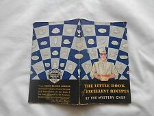 DAVIS BAKING POWDER-1934-THE LITTLE BOOK OF EXCELLENT RECIPES-MYSTERY CHEF-100pg