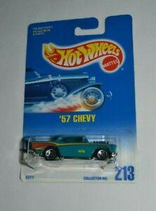 1992 HOT WHEELS - '57 CHEVY AQUA COLLECTOR NO. 213 VHTF !!