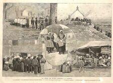 CARNAC FETE DE SAINT-CORNELY GRAVURE ENGRAVING 1891