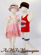Two Mannequins, 4-5 years old full body flexible kids girl / boy, 2 Children -R8