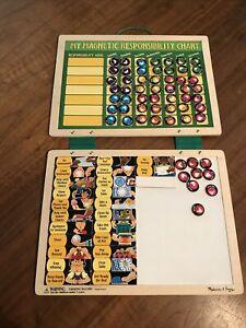 Melissa & Doug Magnetic Chore Chart And Whiteboard For Kids Tasks Praise Magnets