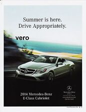 2014 magazine ad MERCEDES BENZ Cabriolet E class print clipping car automobile