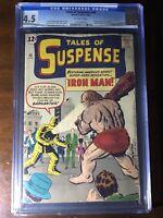 Tales of Suspense #40 (1963) - 2nd Iron Man!!! - CGC 4.5 - 1st Gold Armor!!!