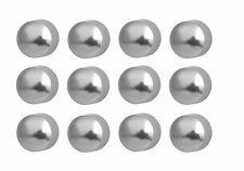 Caflon Ear Piercing Ball Earrings Studs 4mm White Surgical Steel 12 Pair