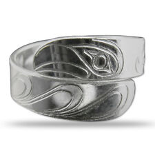 Eagle Native Silver Wrap Ring Pacific Northwest Coast Salish First Nation