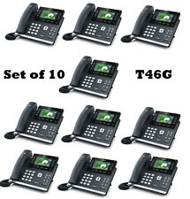 Lot of 10 Yealink T46G Elegant Gigabit Color IP 6-Line PoE IP PBX VOIP Phone New