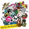 100pcs Mixed Random Bike Sticker Decal Vinyl Car Skate Skateboard Laptop Luggage