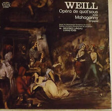 Weill, opéra de quat'sous et Mahagonny