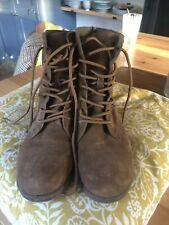 White Stuff Brown Leather Suede Ankle Lace Up Boots Size UK6