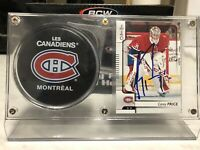 Carey Price Signed Montreal Canadiens Card & Puck Display W/ JSA COA