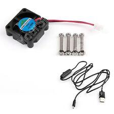 DC Cooler Fan+ Aluminum Heatsink+Black USB Power Cable For Raspberry Pi Pi2/3 B+