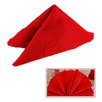 1pc Napkin Table Linen Dinner Cloth Polyester Hotel Wedding Christmas RED COLOR