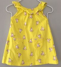 Girls 0-3 Months Carters Yellow Bird Print Dress Adorable & Excellent Condition
