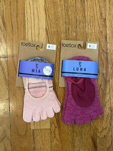 Toesox Bellarina Yoga Socks Non Slip Small Pilates Fitness  Bare Feet Yogi Luna
