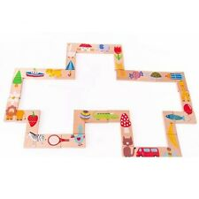 Animal Domino Wooden Educational Toy Toys Gift Wood Blocks Children Animals Game