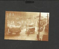Nostalgia Postcard General View Cars wagons Trams Manchester Deansgate 1921