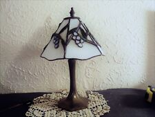 Tiffany lamp grape design shade Dale Tiffany Inc 1987 small desk accent lamp