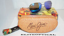 New Authentic Maui Jim CLIFF HOUSE Silver/Blue Hawaii B247-17